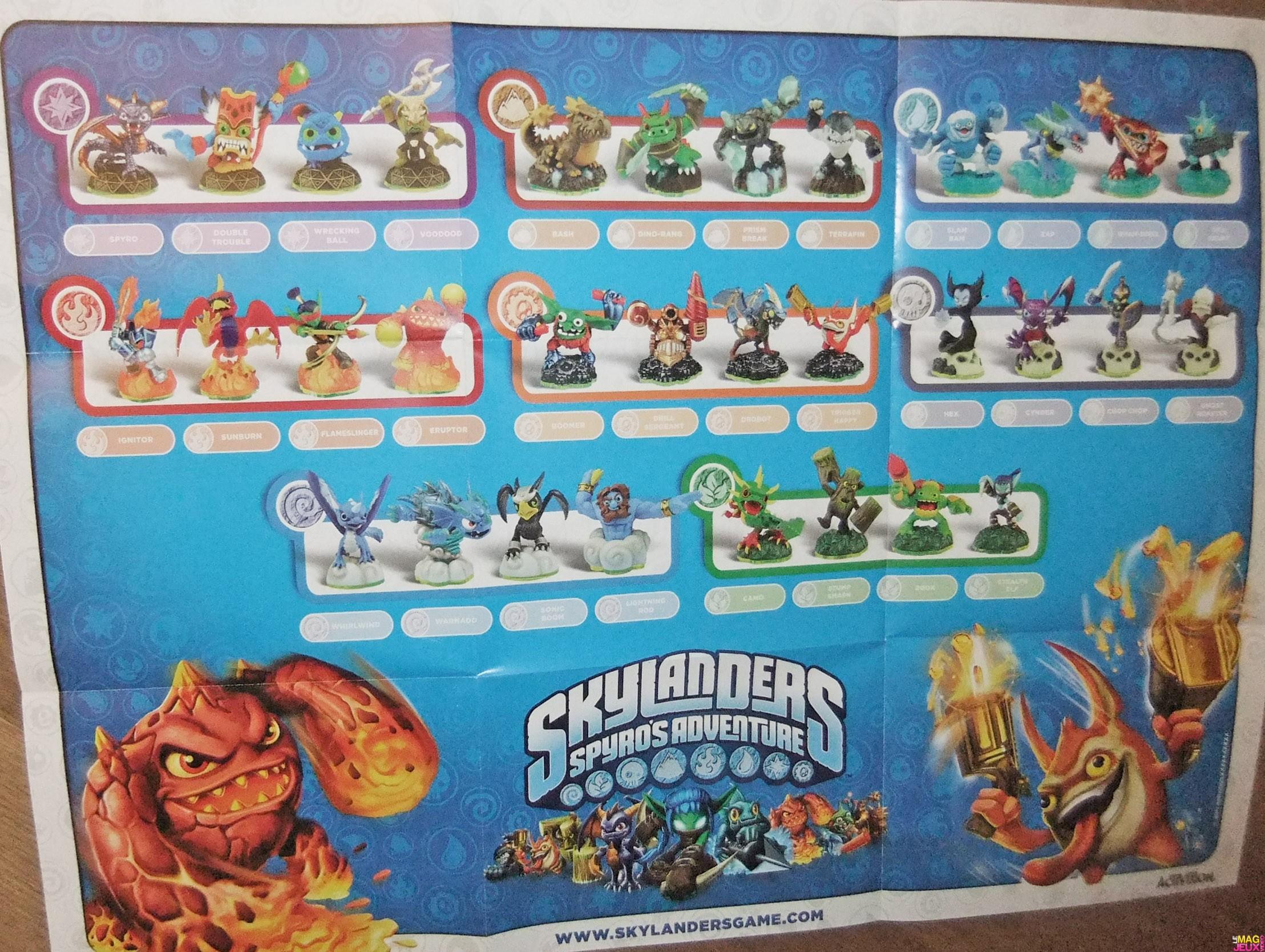 Dossier liste des skylanders pour le jeu skylanders spyro s adventure - Tous les skylanders ...