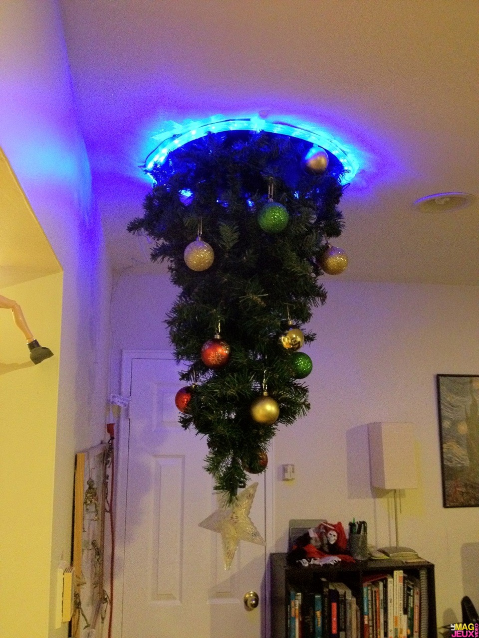 Hanging A Christmas Tree Upside Down