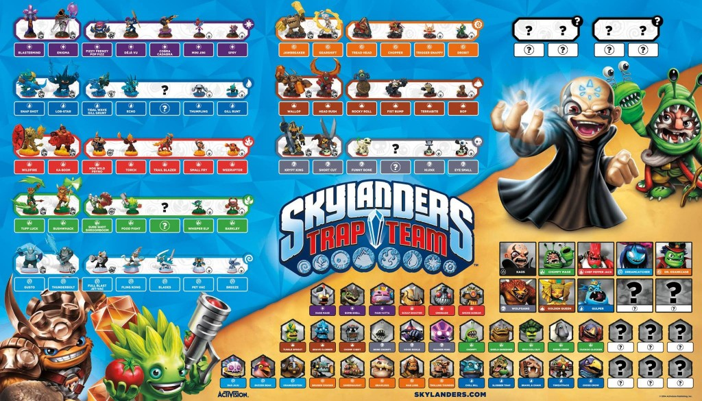 Skylanders trap team figurines m chants pi ges - Tous les skylanders ...