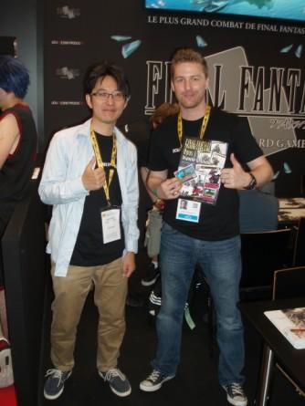 Mr Kageyama (gauche) et Fabian WEBER (droite)