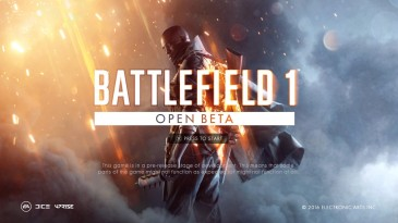 Battlefield 1 Open Beta 1