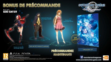 sword art online hollow realization bonus précommande 2