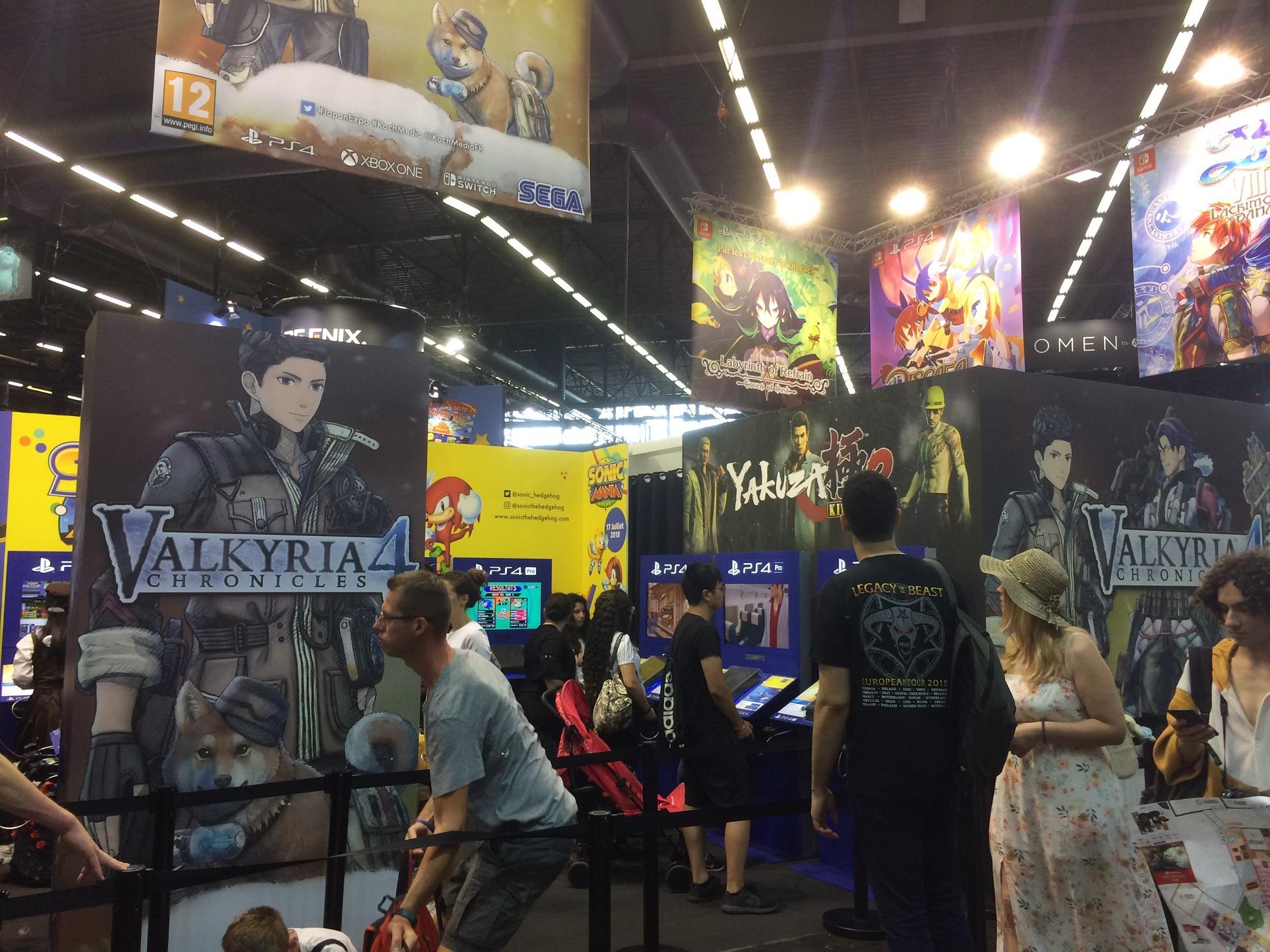 Japan Expo Les Stands : Japan expo 2018 : le stand koch media yakuza persona valkyria