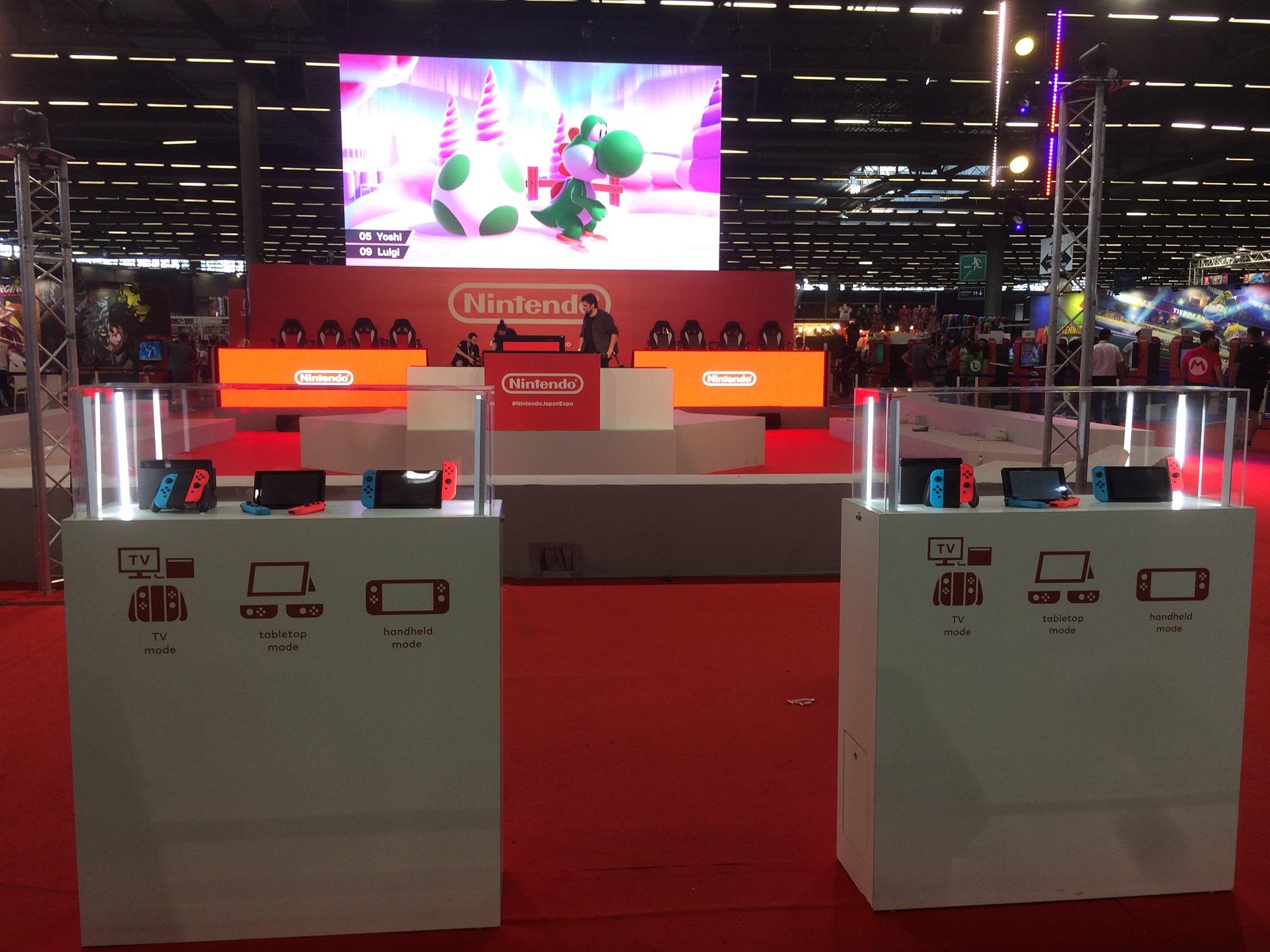 Japan Expo Les Stands : Japan expo 2018 : le stand nintendo smash bros pokémon octopath