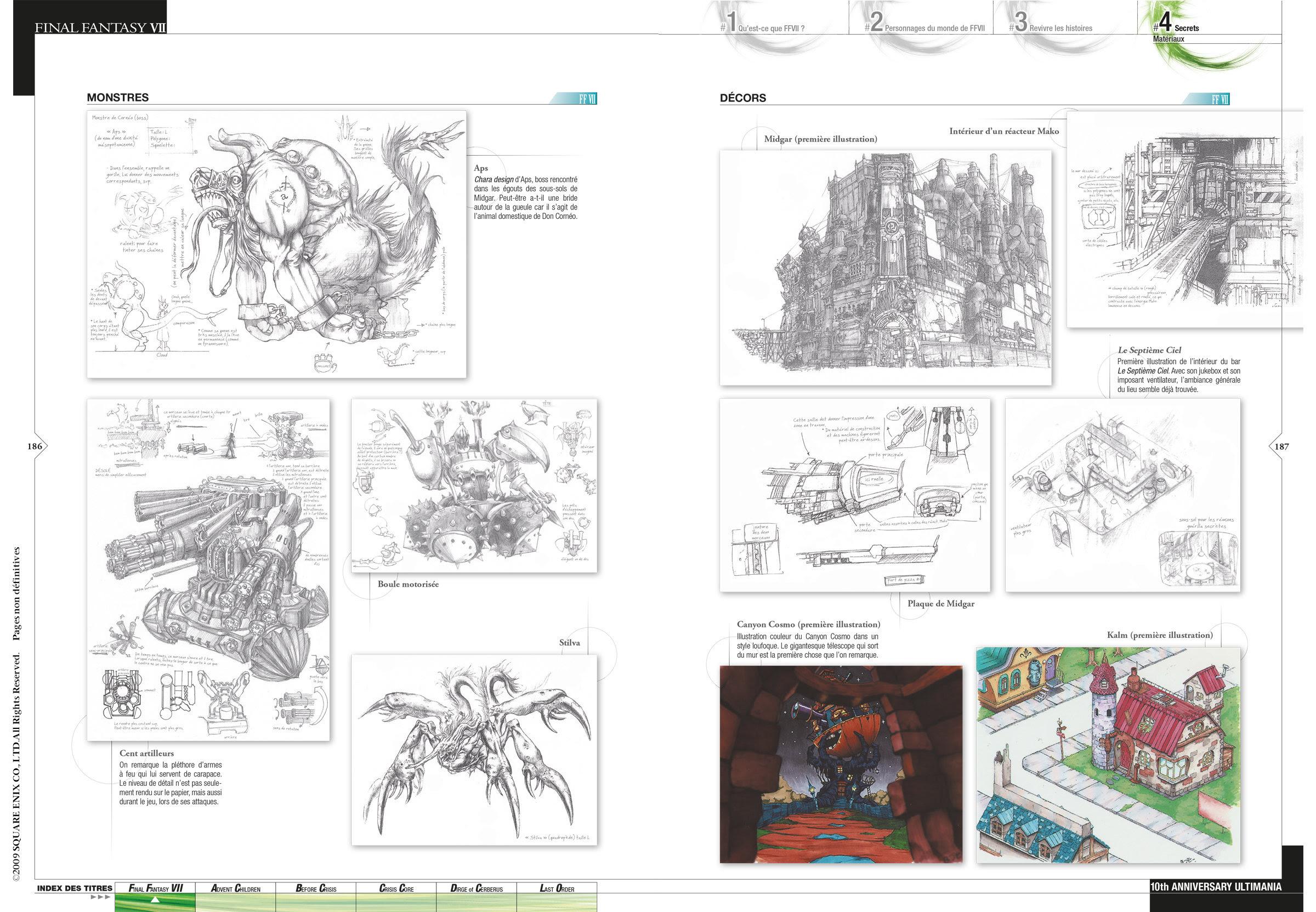 Livre Final Fantasy Vii Ultimania Les Coulisses Du Chef