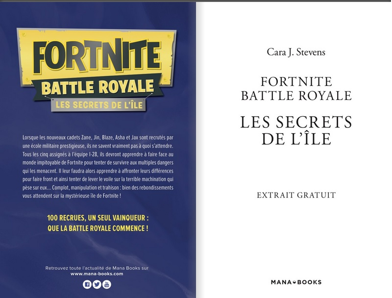 Livre Fortnite Battle Royale Les Secrets De L Ile 1