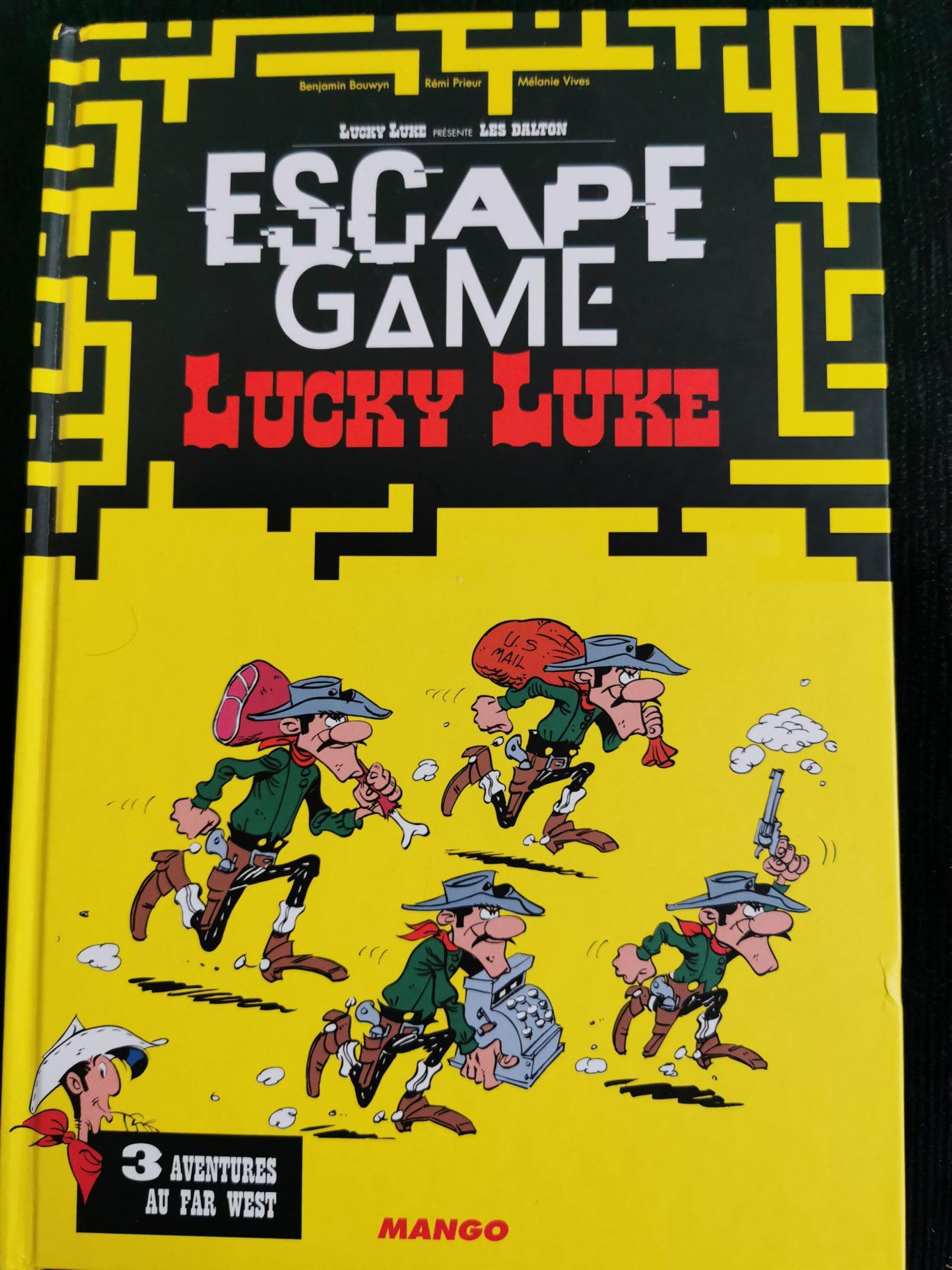 Livre Escape Game Lucky Luke 3 Aventures