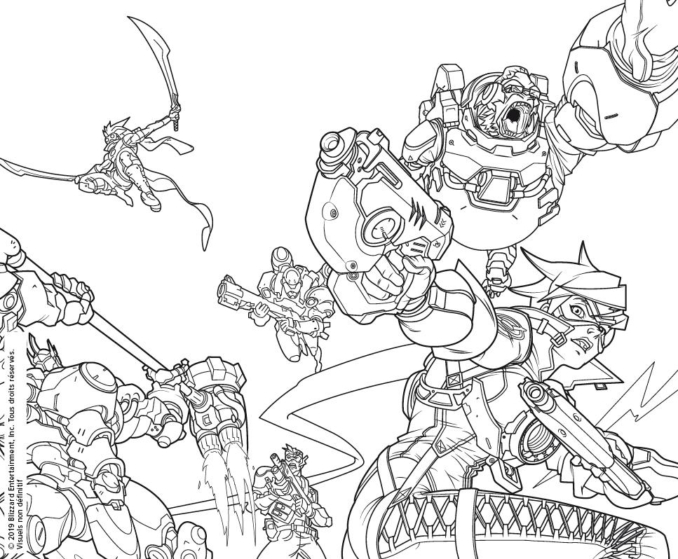 Livres Coloriages Pour Adultes Overwatch Et World Of Warcraft
